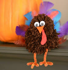 Thanksgiving Crafts Turkeys Turkey Pom Pom Thanksgiving Craft