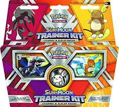 Pokemon Trainer Card Designer Amazon Com Pokémon Tcg Sun U0026 Moon Trainer Kit Lycanroc U0026 Alolan