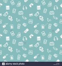 Technology And Gadgets A Repeating Seamless Gadgets And Technology Background Tile