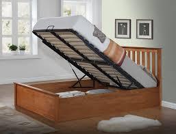 4ft Ottoman Storage Beds by Birlea Phoenix Ottoman Bed Pine Oak Small Double Amazon Co Uk
