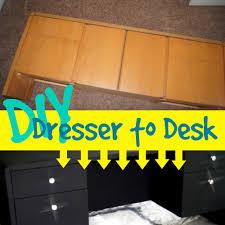 Turn Desk Into Standing Desk by Diy Dresser To A Desk Youtube