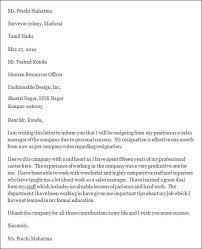resignation letter resignation letter formet word document letter