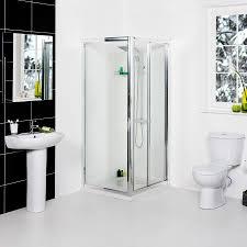 splash 800 x 800mm bi fold door shower enclosure suite with easy
