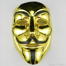 best price on gold silver halloween masks v for vendetta anonymous