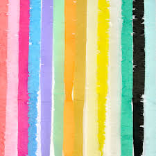 party streamers 3m fringed party streamers tissue paper fringe garland diy fringe