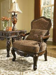 ashley furniture north shore dark brown showood accent chair ash