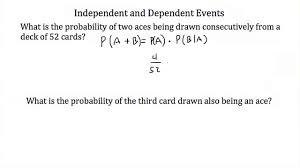 probability independent and dependent events youtube