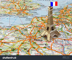France On A Map by Eiffel Tower On Map France Stock Photo 11908585 Shutterstock