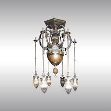 Art Deco Ceiling Fixtures Woka Lamps Vienna 44048 Art Deco Luster