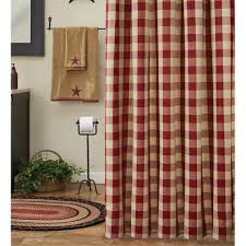 Shower Curtains With Red Wicklow Garnet Red Shower Curtain By Park Designs