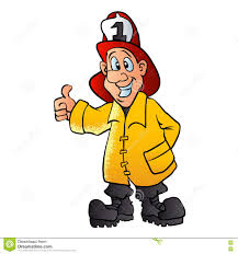 smiling fireman cartoon stock vector image 72110216
