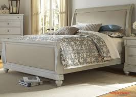 Bedroom Set With Media Chest Furniture Harbor View Iii Queen Sleigh Bed In Dove Gray 731 Br Qsl