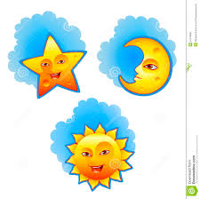 sun moon and stock vector illustration of icon 24218364