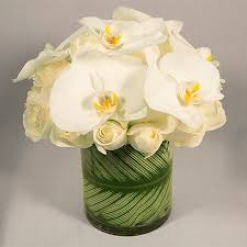 white orchids delight with orchids and roses unique luxury roses