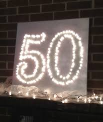 make a light show out of the big 5 0 at your 50th birthday