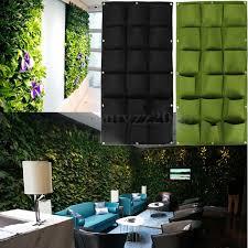 generic 18 pocket hanging vertical yard wall planter bag indoor