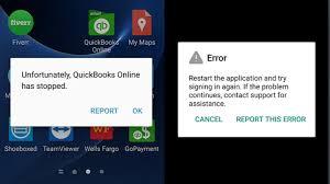 reset quickbooks online quickbooks online android error unfortunately quickbooks online