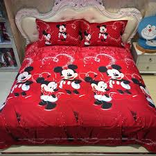 Mickey Duvet Cover Mickey Mouse Bedding Sets Minnie Kids Duvet Cover Aliexpress