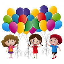 palloncini clipart i bambini con palloncini progettazione scaricare vettori gratis
