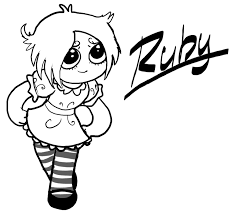 ruby gloom coloring page free download