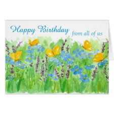 birthday from all of us greeting cards zazzle
