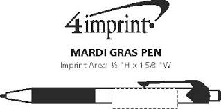 mardi gras pen 4imprint mardi gras pen 9764 imprinted with your logo