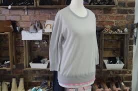 designer pullover by rykiel designer pullover grau lila pink seide gr xs