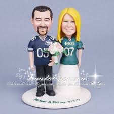 eagle cake topper football wedding cake toppers dallas cowboys and philadelphia