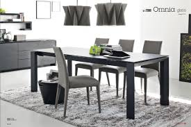 Modern Furniture Sarasota by Calligaris Omnia Extendable Glass Table Acid Etched Black With