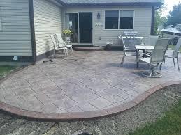 Photos Of Concrete Patios by Concrete Patio Cost Ontario Home Outdoor Decoration