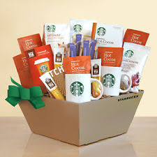 coffee gift baskets starbucks gift basket ebay