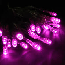 battery operated 20 led string light set pink clear cord led
