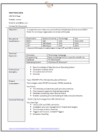 Information Technology Resume Samples by Example Of Cv Information Technology