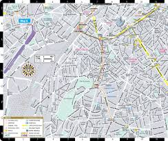 Brussels Germany Map Streetwise Brussels Map Laminated City Center Street Map Of