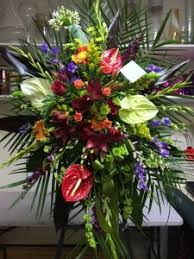 funeral spray funeral spray with tropical flowers funeral stand sympathy in