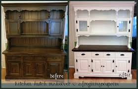 kitchen hutch makeover project a frog in my soup handmade and