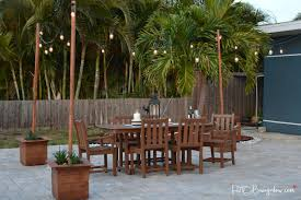 Patio String Lighting by Diy Outdoor String Lights On Poles H20bungalow