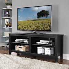 Tv Console Amazon Com 58 In Wide Sunbury Tv Stand By Beachcrest Home Black