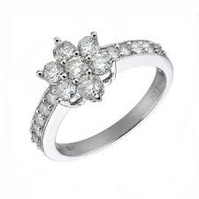 flower engagement rings white gold flower diamond ring flower engagement ring diamond