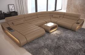 Leather Sofa Beige Modular Leather Sofa Concept