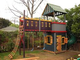 How To Build A Wooden Playset Clubhouse Fort Castle No Adults Allowed Castle Playhouse
