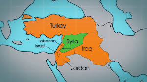 Middle East Countries Map by Syria Is In The Middle East Bordering The Mediterranean Sea