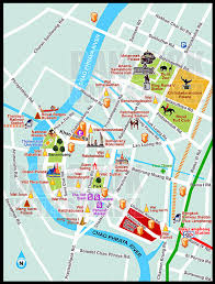 Map Of Thailand Tourist Attractions Map Of Bangkok Thailand New Zone