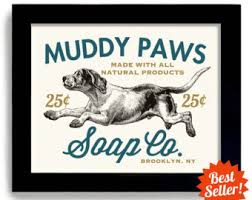 laundry room decor dog art dog wash art sign wall art print