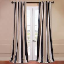 Striped Blackout Curtains Half Price Drapes Georgetown Striped Blackout Thermal Rod Pocket