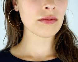 hoop studs hoop earrings etsy