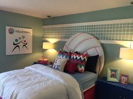 Cool Hockey Bedroom Ideas U0027s Volleyball Bedroom Volleyball Headboard Kid U0027s Rooms