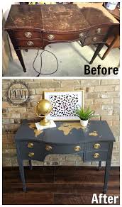 World Map Desk by For Love Of The Paint Tutorial Vintage Drexel Desk Vanity