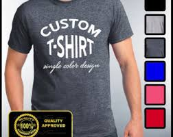 custom t shirt etsy