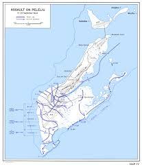 Palau Map Battle Of Peleliu Japanese Defenses